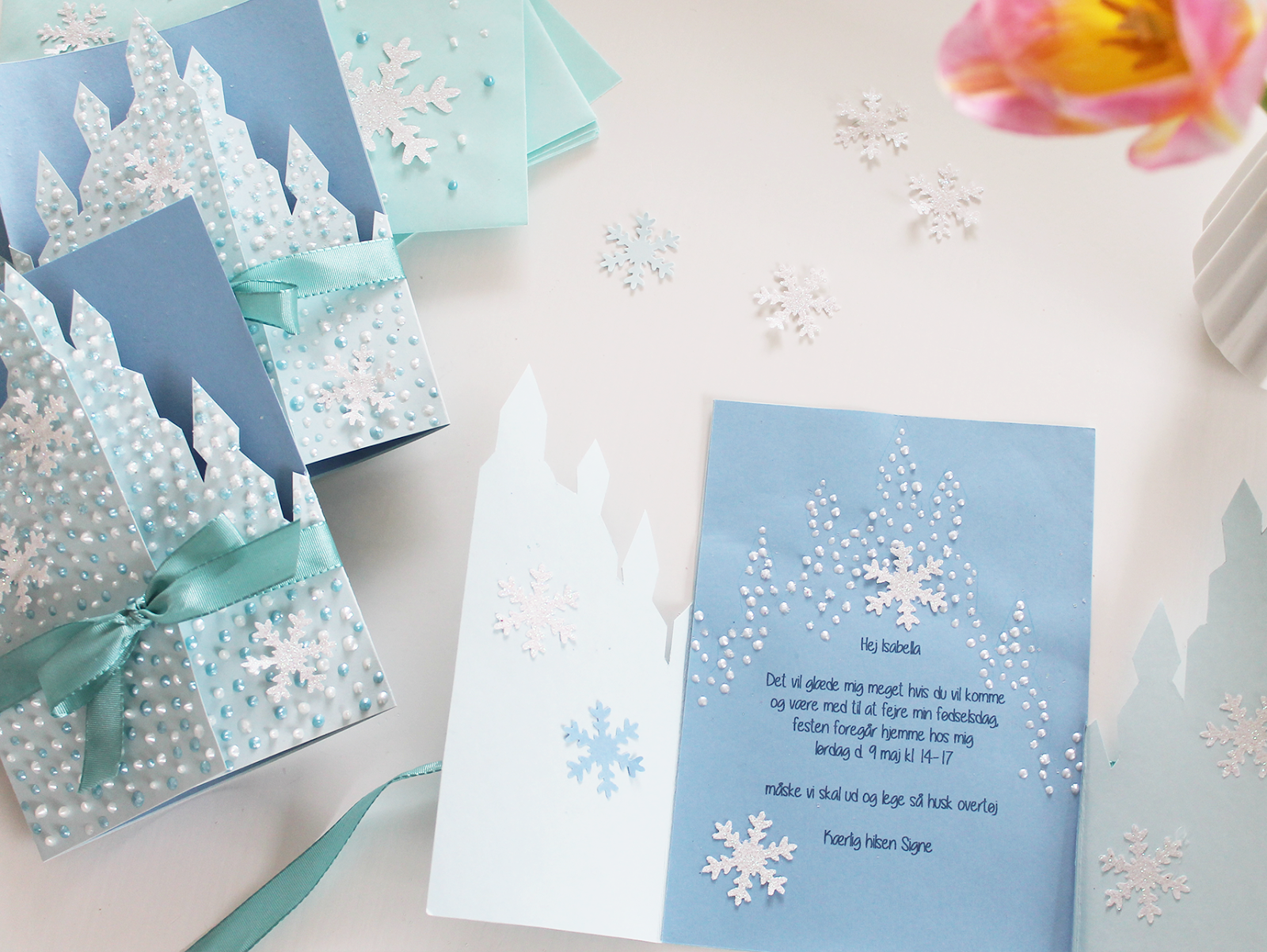 frozen invites diy